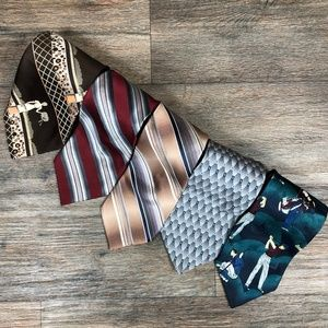 Other - Lot of 5 Silk Ties Classic Length T24
